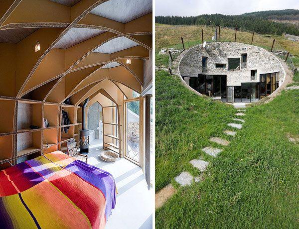 Underground Home Designs - Swiss Mountain House Rocks! | Mountain ...