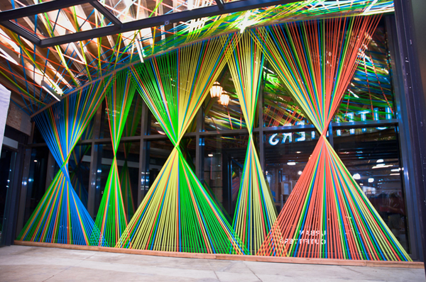 Hey Look: INSPIRED BY FLAGGING TAPE INSTALLATIONS - MEGAN GECKLER