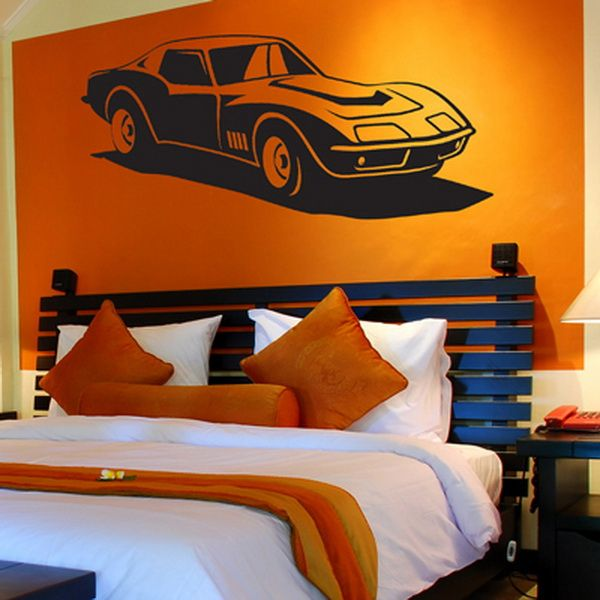 old car room ideas best home decorating boys room with wall decals best home - Kids Room Wall Design