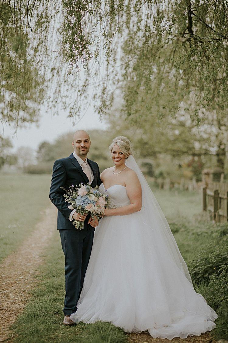 Pretty pale blue u gold fairy lit barn wedding weddings