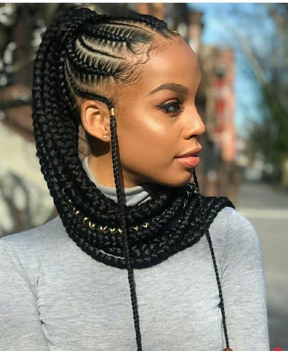 Ponytail Hairstyles For Black Women Cornrow Hairstyles African Braids Hairstyles Braided Ponytail Hairstyles
