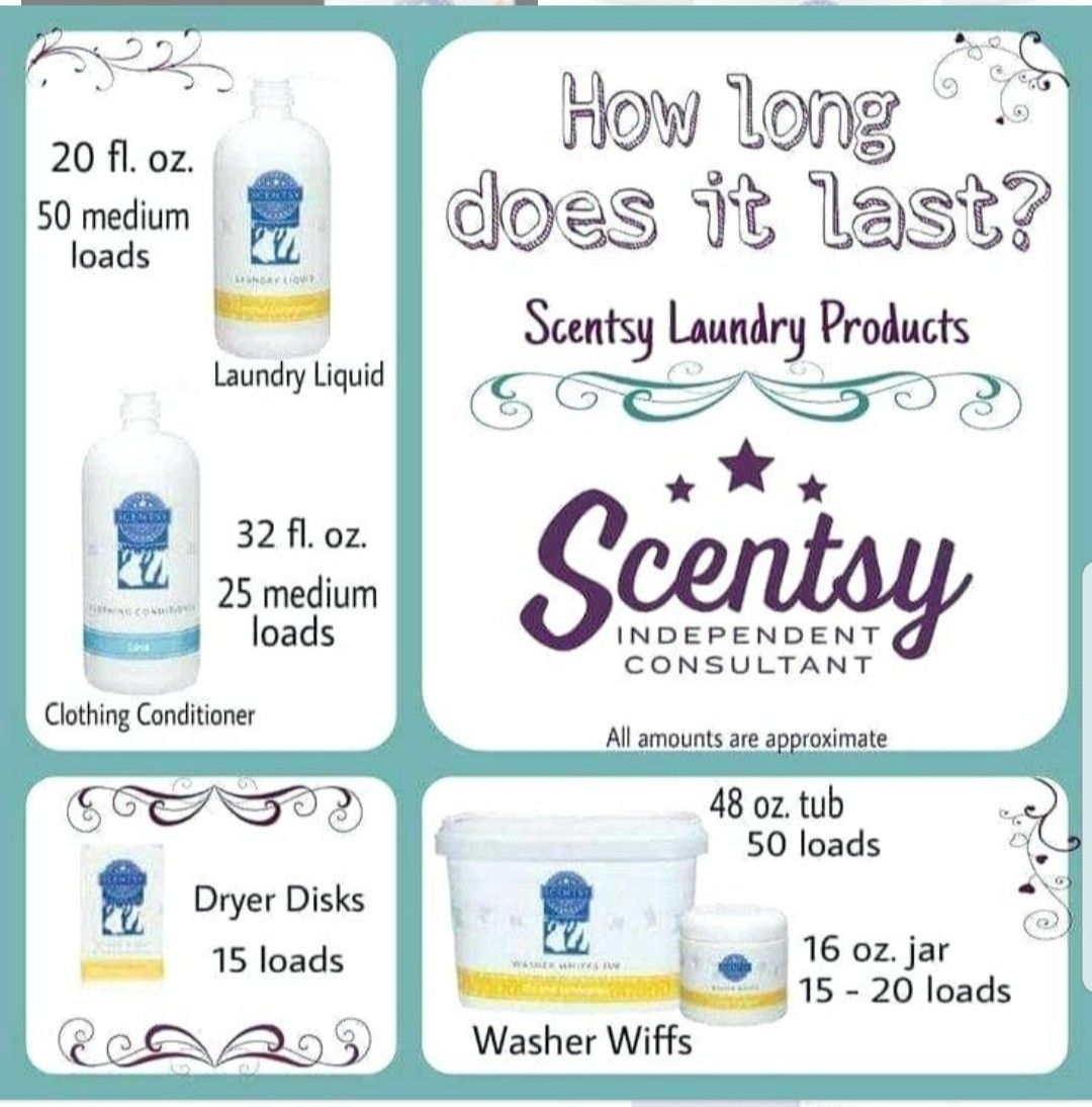 Scentsy Laundry Liquid Clothing Condition Dryer Disks And Washer