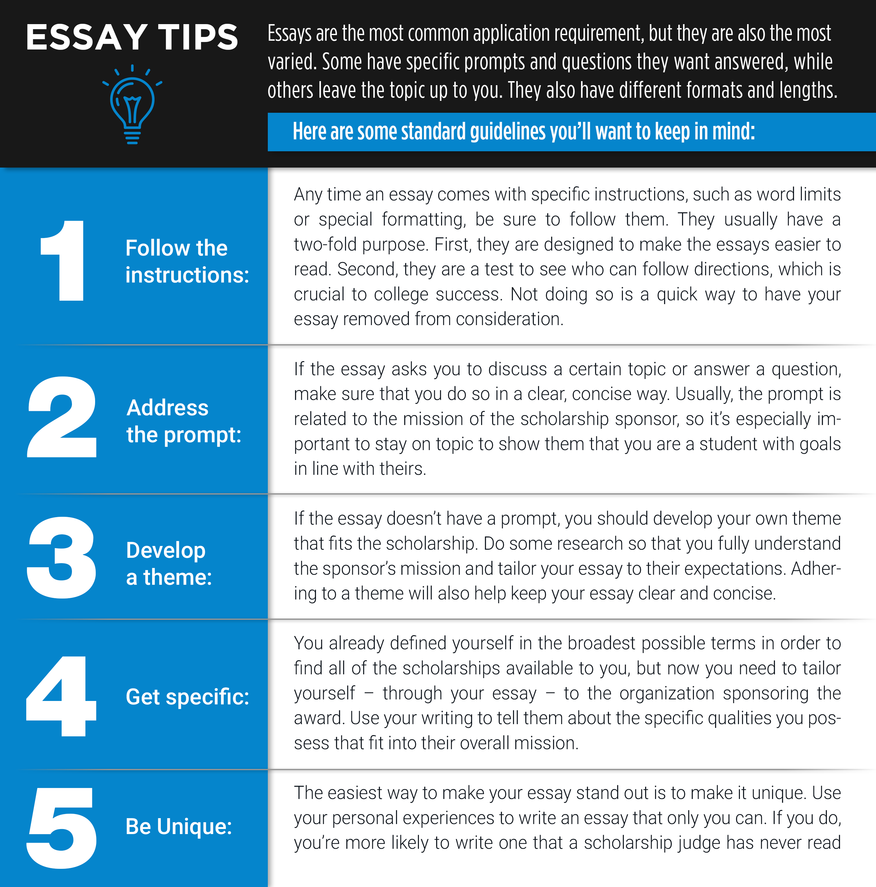 The Best Scholarship Search Platforms Essay tips