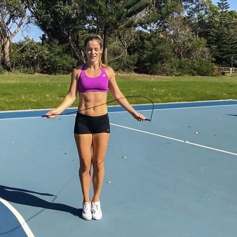 Jump Rope Hiit Clocking Up Some Cardio Points With This 10 Minute Skipping Workout I Did This Before My Strength Session Ye Skipping Workout Jump Rope Hiit