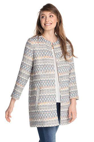 Esprit / Indoor-jas in jacquard-look