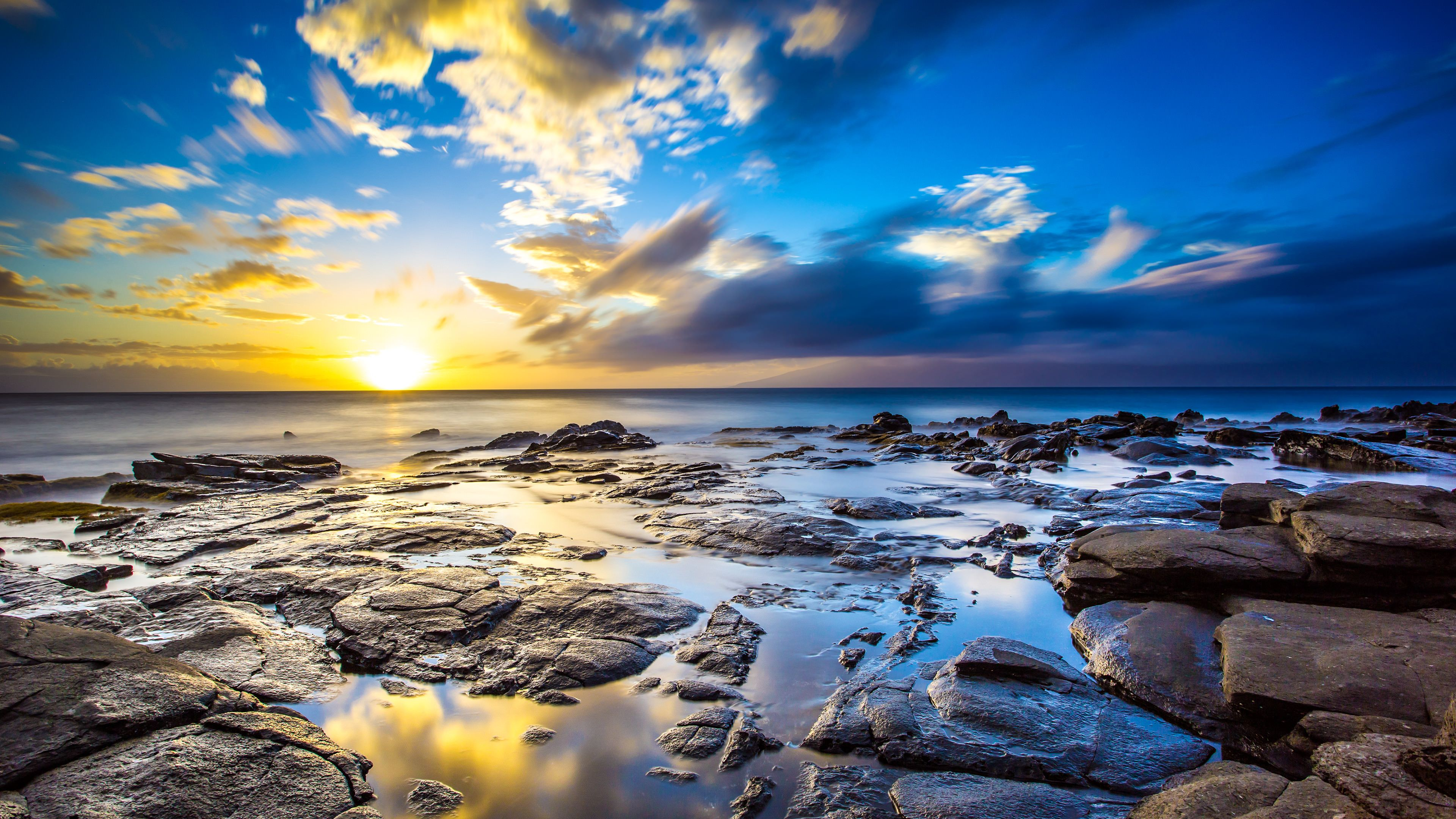 Glorious Sunrise 3840x2160 Hd Nature Wallpapers Ocean Landscape Laptop Wallpaper