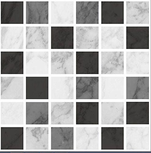 pack of 10 black marble effect mosaic tile transfers stickers high