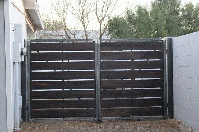 Shou sugi ban fence. 2x2 frame with 2x6 Douglas fir