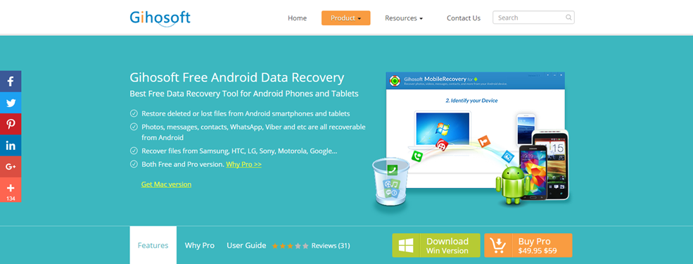 gihosoft free android data recovery crack download