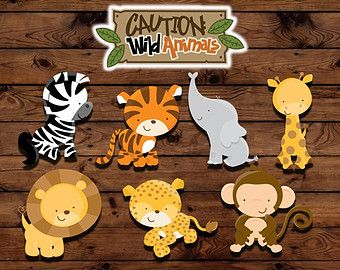 Zoo animal balloon stickers INSTANT di MyHeartnSoulBoutique