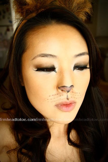 From Head To Toe Lion Halloween Makeup Tutorial \u003d^^\u003d Products I - cat halloween makeup ideas