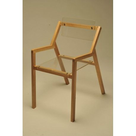 Blocco 55   Design Chair In Wooden And Plexiglass, Perfect For Decorating  Your Living Room