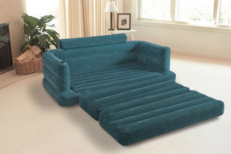 Pleasant Intex Inflatable Pull Out Sofa Mattress Sleeper Queen Beatyapartments Chair Design Images Beatyapartmentscom