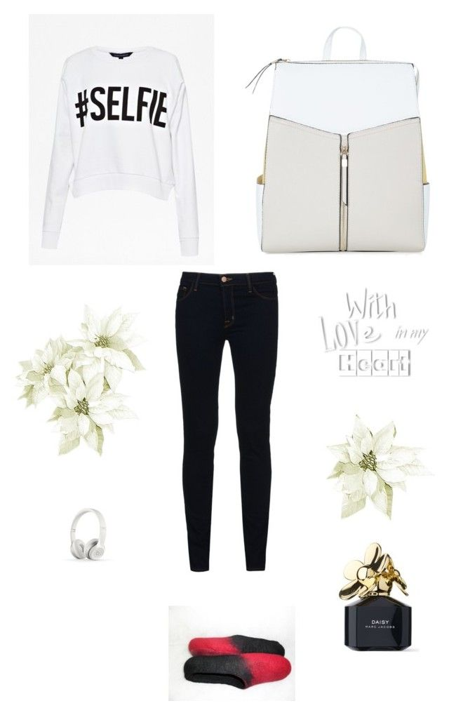 """""""Perfect for leisure time..."""" by emissaa ❤ liked on Polyvore featuring French Connection, J Brand, Marc Jacobs and Beats by Dr. Dre"""