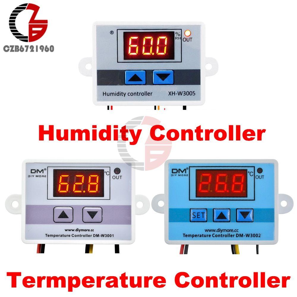 12V 24V 110V 220V LED Digital Temperature Humidity