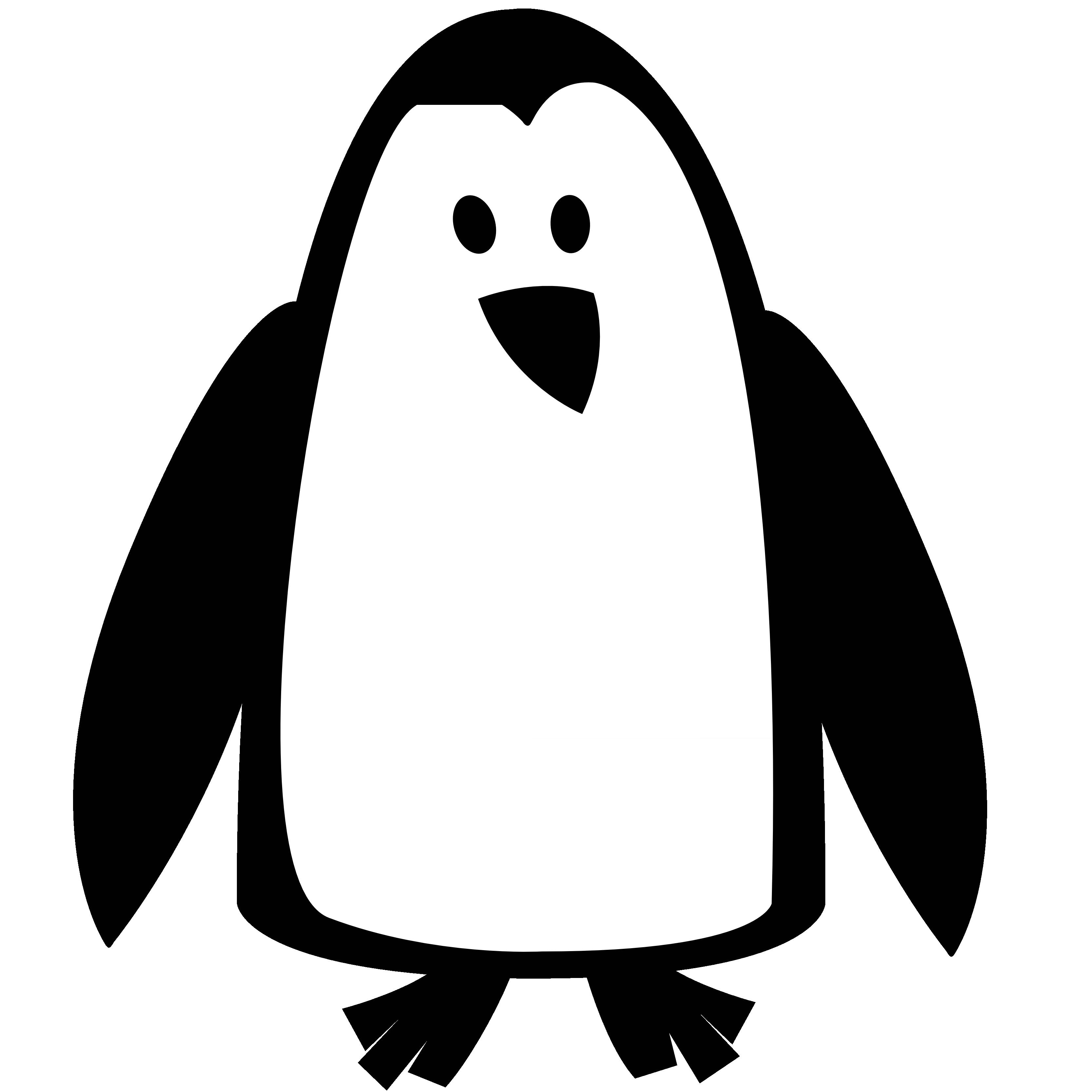 Black And White Google: Penguin Clip Art Black And White - Google Search