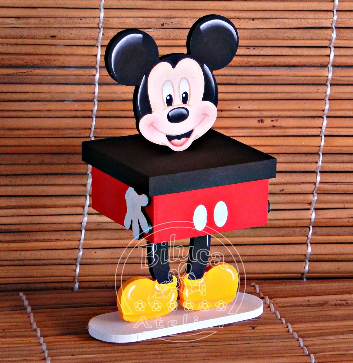 Centro de mesa mickey | Mice, Mickey mouse and Mickey mouse parties