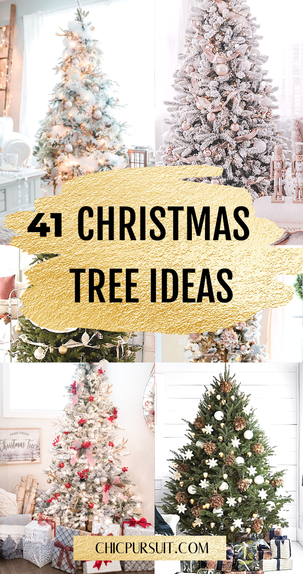 40 Stunning Christmas Tree Ideas Your Family Will Love Elegant Christmas Trees White Christmas Tree Decorations Christmas Tree Colour Scheme