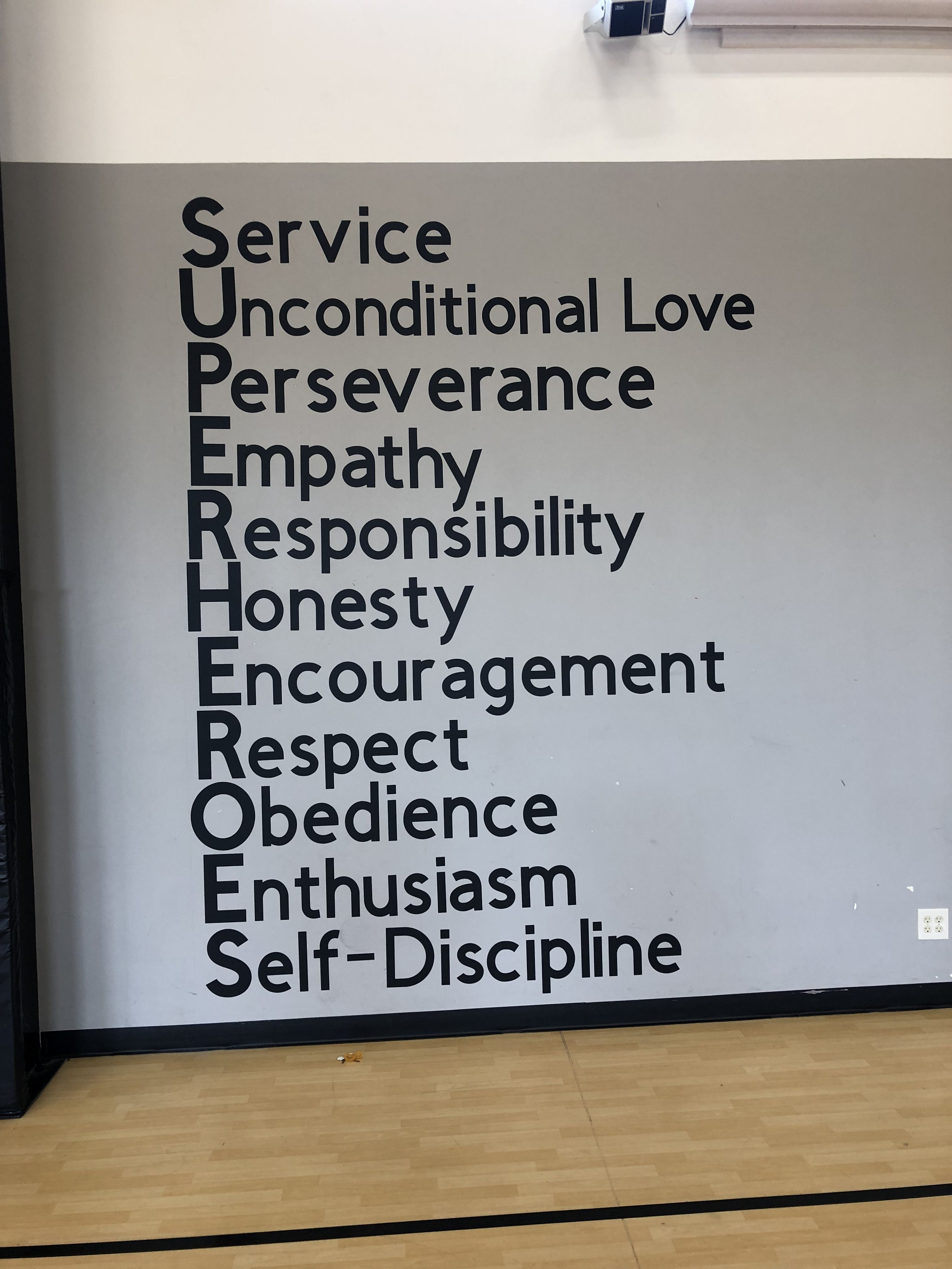 Character Education 10 X7 Wall Space With Character Words