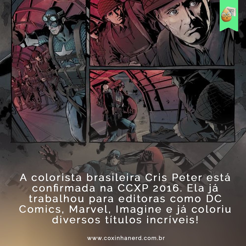 Cris Peter está confirmada na CCXP