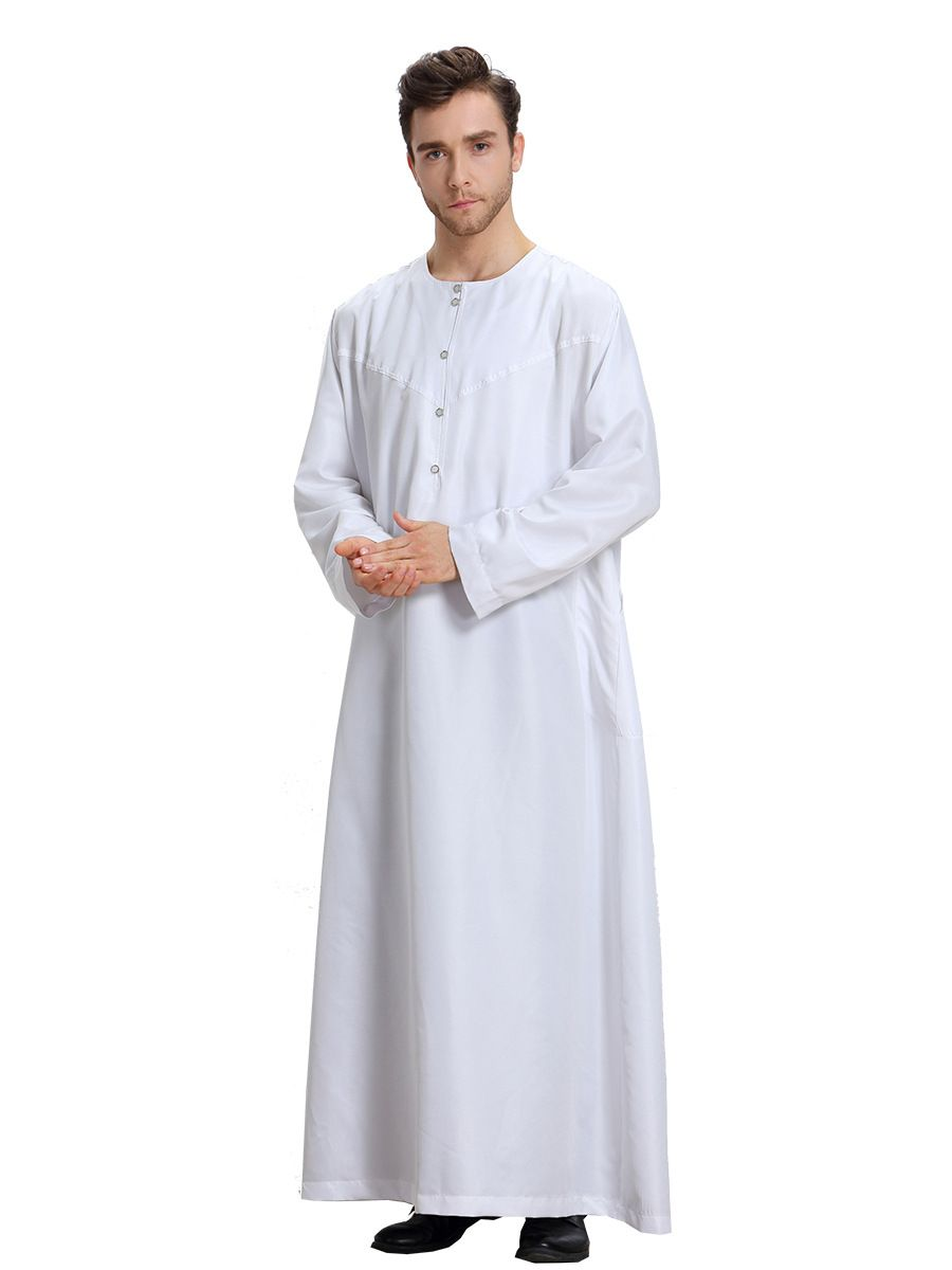 33 China Islamic Clothing Men Kurta Long Sleeve Thobe Saudi Arabia Dubai  Muslim Long Kaftan Islamic Men Abaya Loose Clothing S-XL fbc362d45