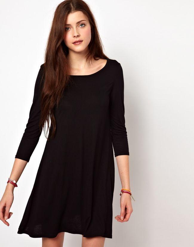 Kleid schwarz weiss asos