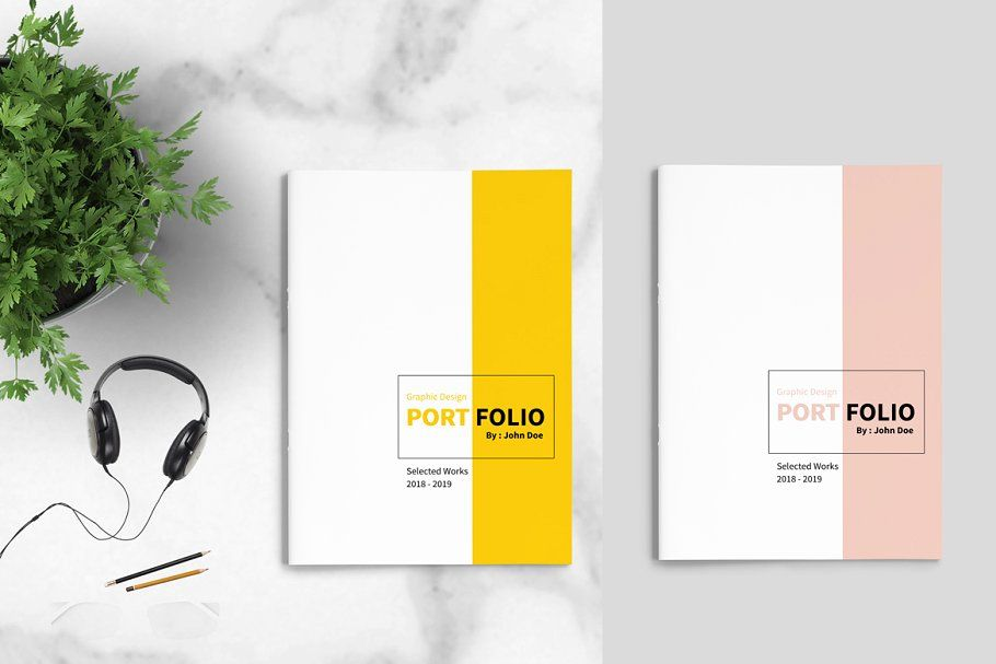 graphic design portfolio template brochure templates creative