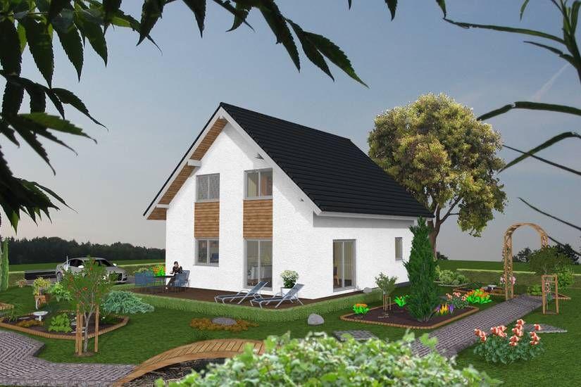 Satteldach Beispielhaus 122 Qm Wohnflache 1 Geschossig