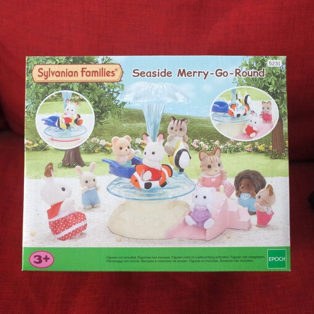 Sylvanian Families Seaside Merry-Go-Round Set from Japan Calico Critters