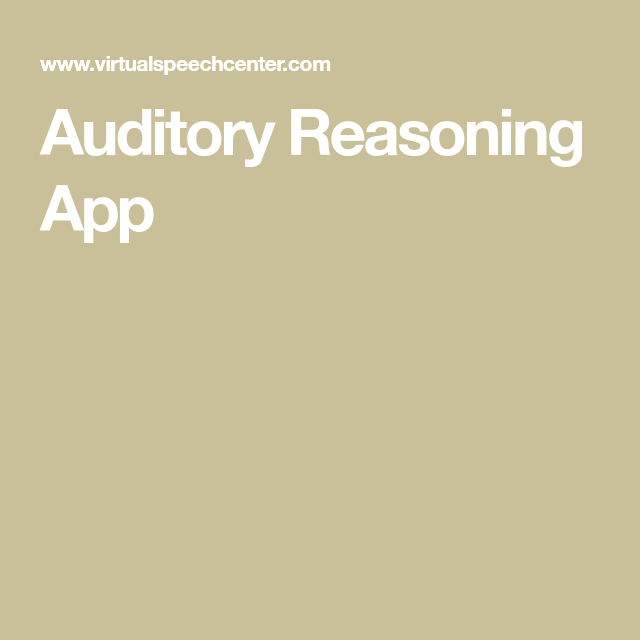 Pin On Auditory Processing Disorder
