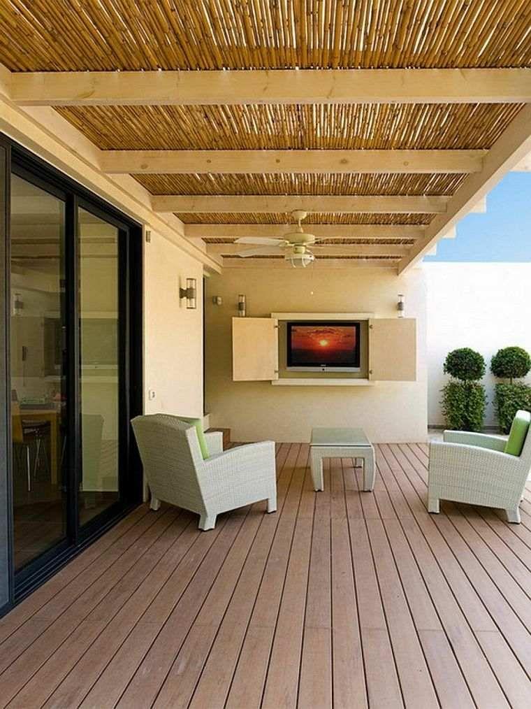 canisse pergola 35 id es pour un ombrage naturel pour bien profiter terrasses pinterest. Black Bedroom Furniture Sets. Home Design Ideas