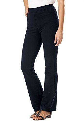 Women's ponte knit bootcut pants