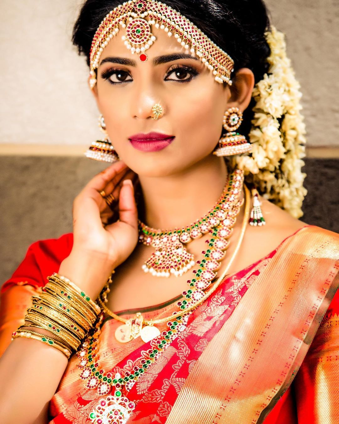 Tamil Bride Hairstyle: Pin By Abi Tamil On Bridal Jewellery Indian