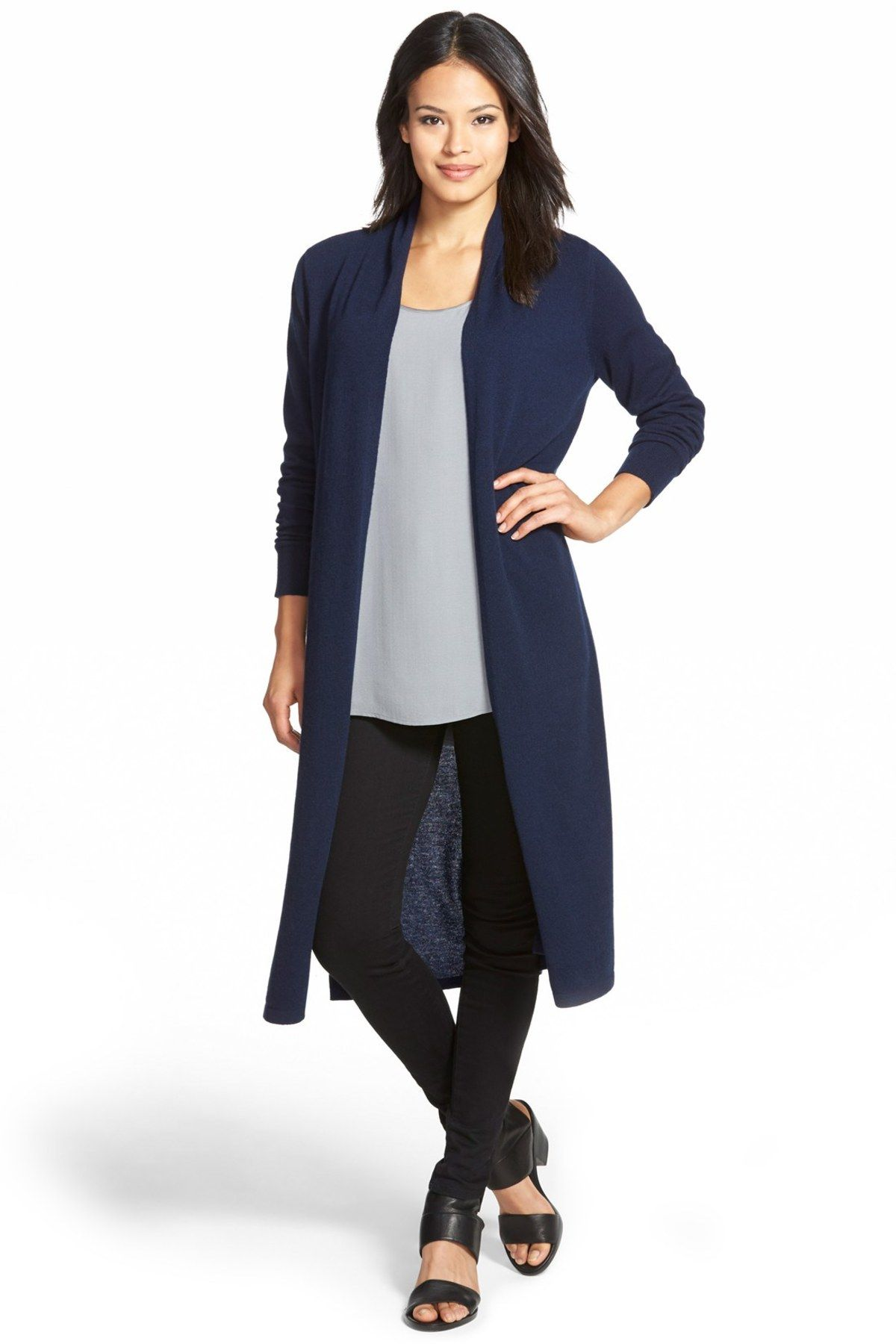 Nordstrom Collection | Open Front Cashmere Duster Cardigan ...