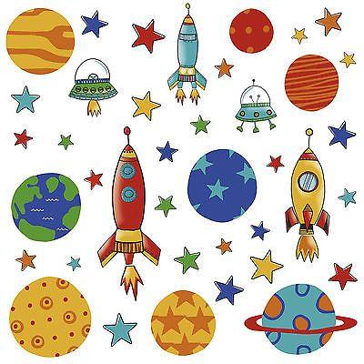 39 Wandsticker WAndtattoo Planeten Raketen Weltall Babyzimmer Kinderzimmer  DEko In Möbel U0026 Wohnen, Kindermöbel U0026