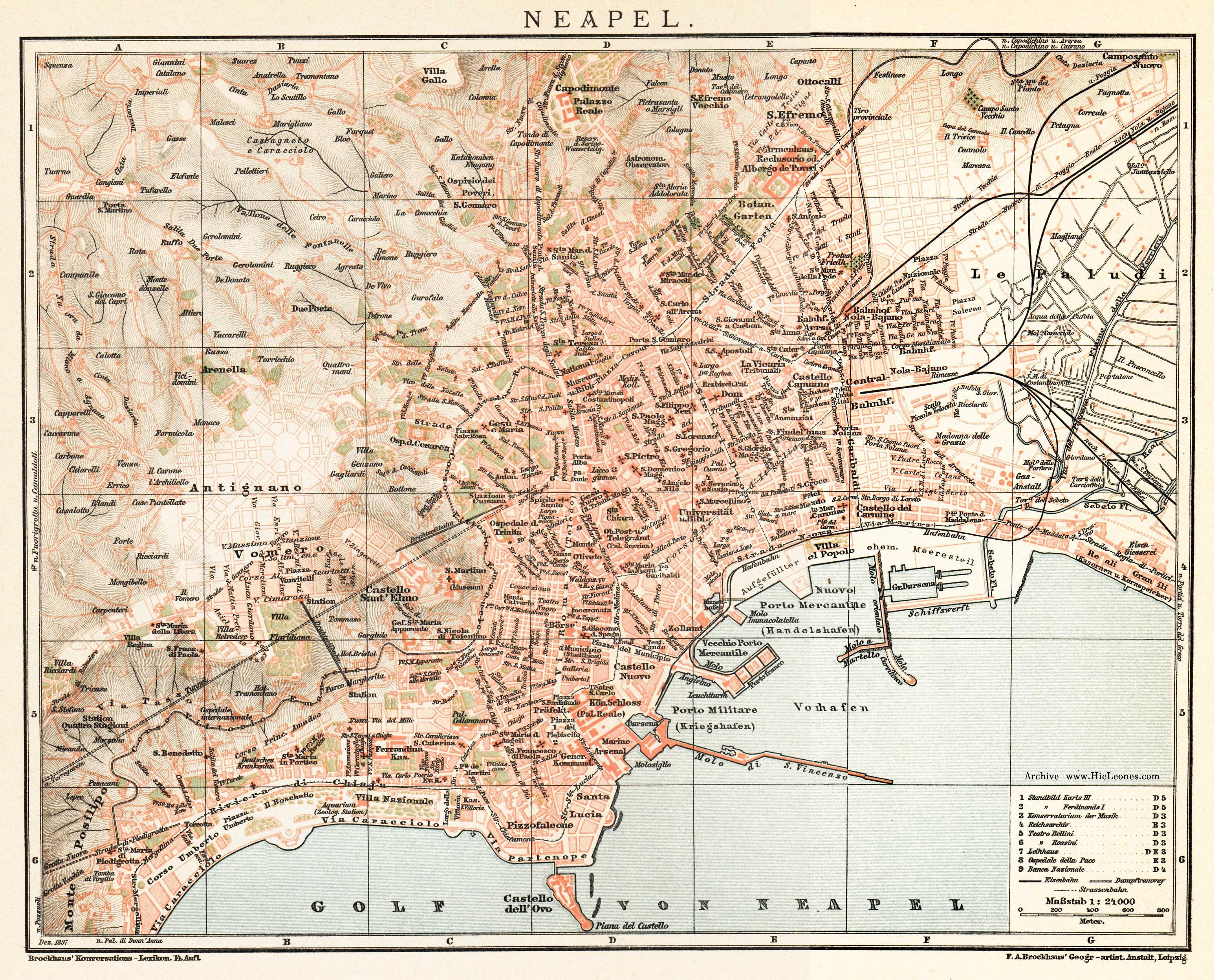 Naples/Napoli - City / Ville | Maps | Antique maps, Italy, Naples