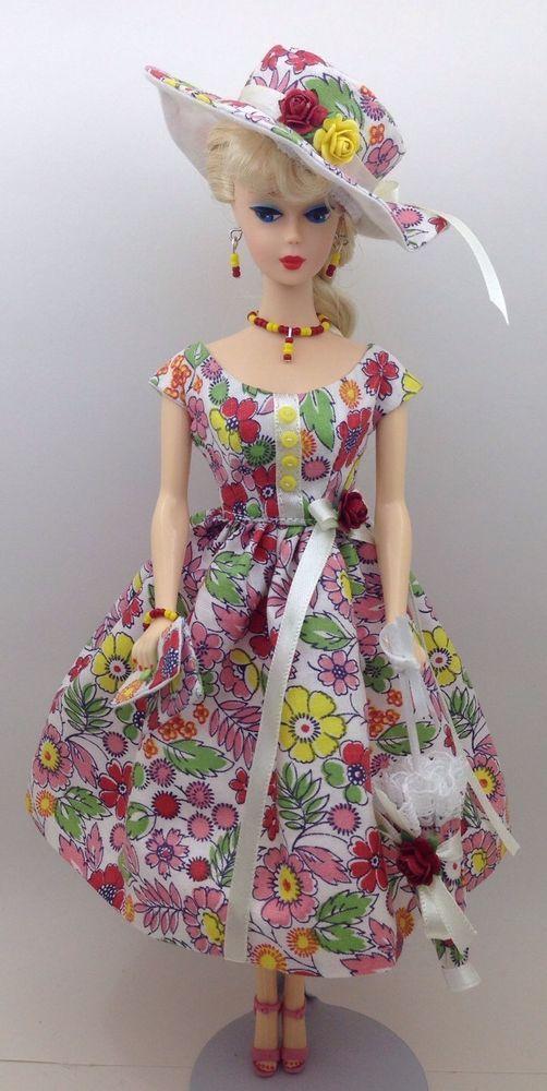 Barbie vintage, reproduction, repro - Handmade Dress & Accessories - 8 pieces ! #handmadebyalep9600