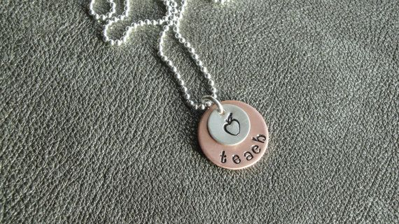 Personalized Teacher Necklace Hand Stamped by KellysCreativeDesign, $24.00