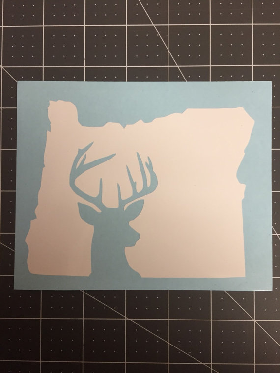 Oregon deer vinyl decal by lailoclothing on etsy