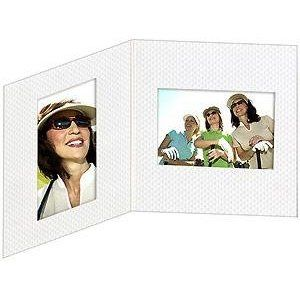 Golf Ball Dimpled White Mixed Double Cardboard Double Folder 4x6s