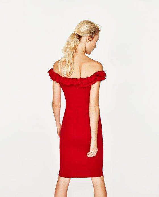 a270bf0021c9 Image 6 of OFF-THE SHOULDER DRESS from Zara | Fashion | Shoulder ...