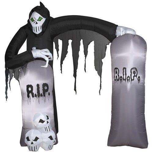 Halloween Grim Reaper Airblown Halloween Decoration Outdoor Party - outdoor inflatable halloween decorations
