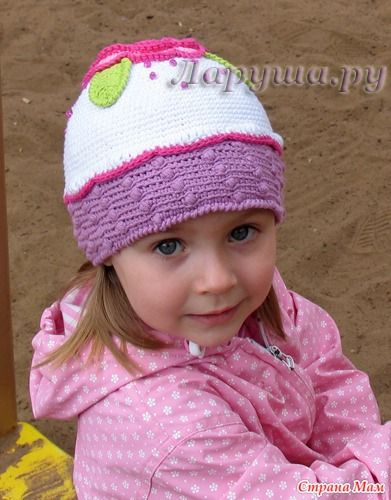 Описание: детские летние шапки крючком со схемами ...