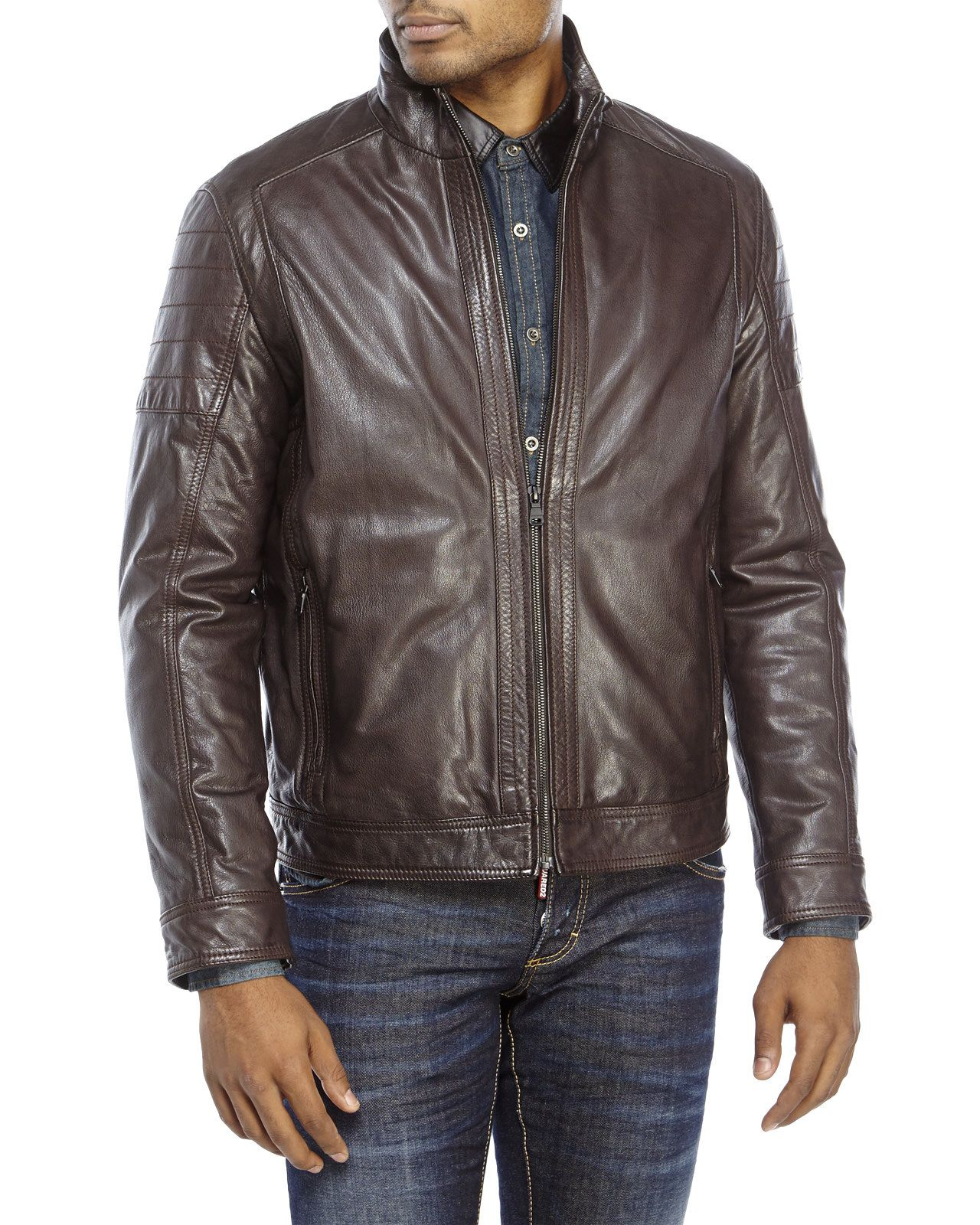 BOSS HUGO BOSS Leather Jacket Leather jacket shopping