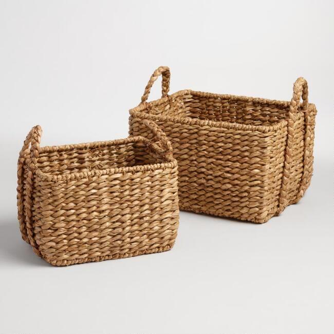 Natural Hyacinth Rectangular Molly Baskets Storage, Storage U0026 More Storage!  #affiliate