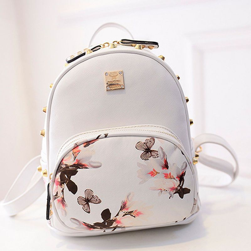 89134ad3d08 Women Leather School Bag Travel Cute Backpack Satchel Girl Shoulder ...