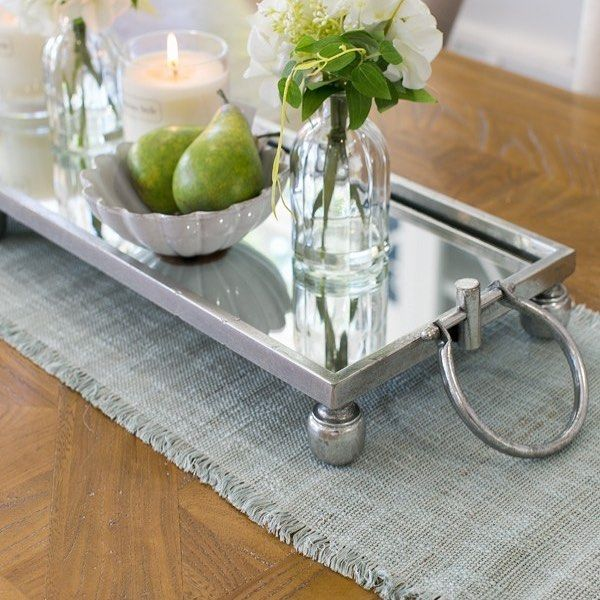 The mirrored Dover Tray... we like it for dining tables or ...