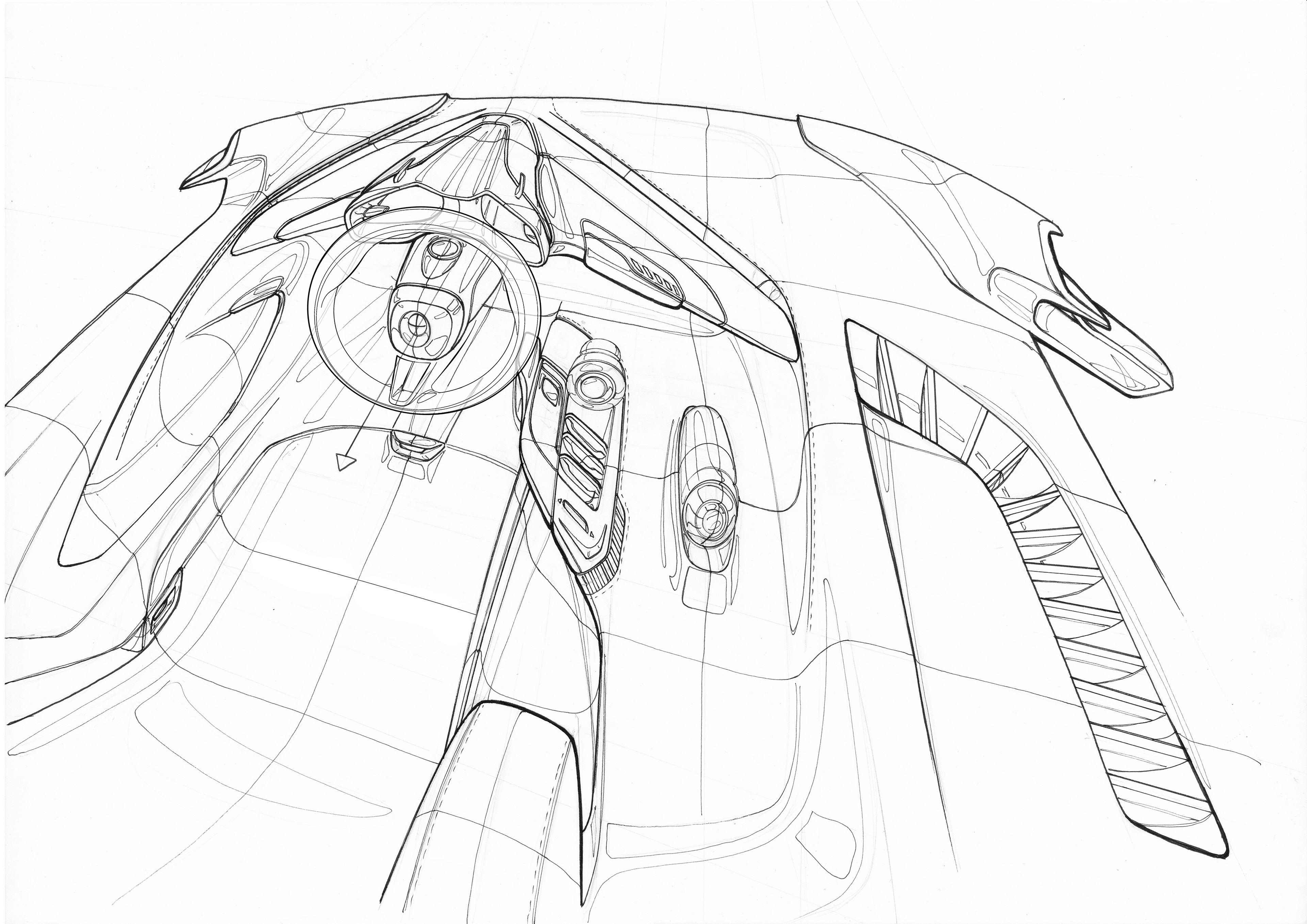 Bugatti chiron 84 1600×905 interior pinterest transportation design car sketch and car interiors