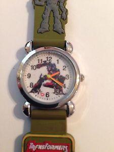 New Army Green Transformers Boys Silicone Wristwatch | eBay
