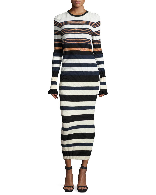 Longsleeve striped maxi dress maxis striped maxi dresses and